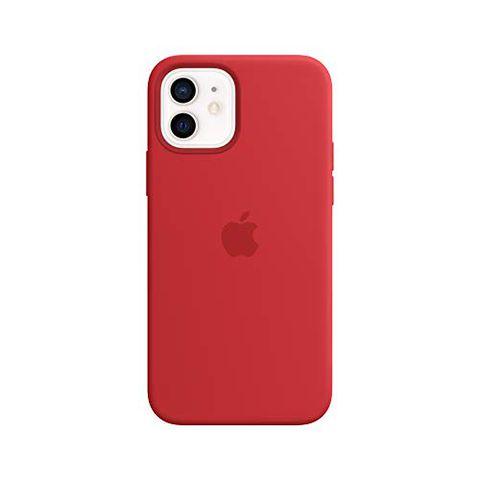 Custodia MagSafe in Silicone per iPhone 12 (Rosso)