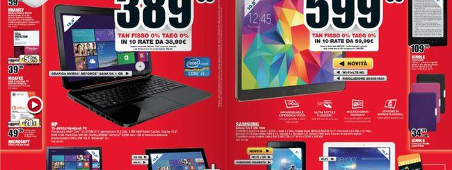 Volantino Mediaworld: Samsung Galaxy Tab S a 599€