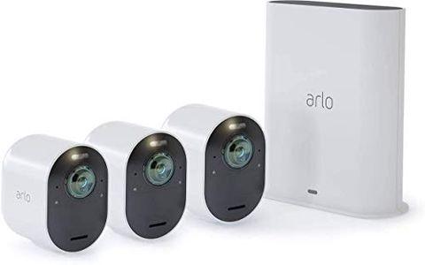 Arlo Ultra VMS5340 Sistema di Videosorveglianza Wi-Fi con 3 Telecamere di Sicurezza 4K