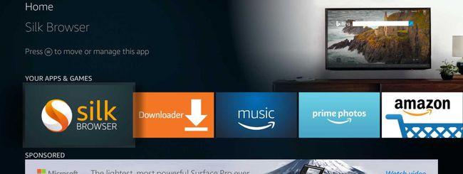 Amazon rilascia il browser Silk per Fire TV