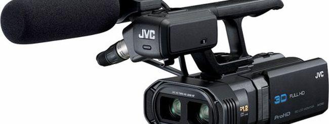 JVC GY-HMZ1, videocamera 3D per professionisti