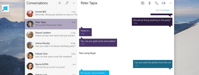 Skype per Windows 10, messaggi multi-device