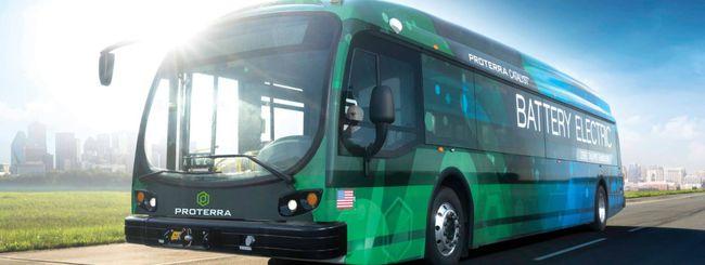 Un bus elettrico viaggia per 1.102,2 miglia