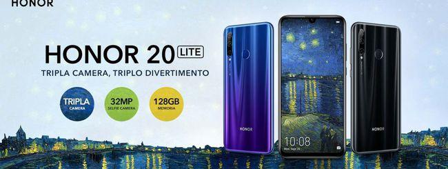 Honor 20 Lite disponibile in Italia