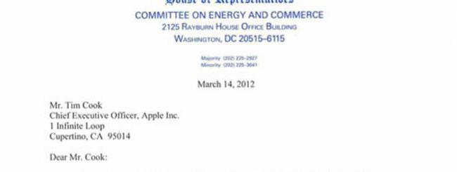 Il Congresso USA interroga Apple sulla privacy