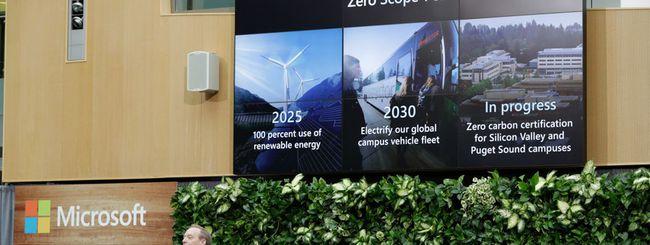Microsoft diventerà carbon negative nel 2030
