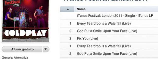 Coldplay in regalo su iTunes