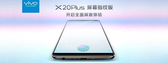 Vivo X20 Plus UD: lettore d'impronte nel display