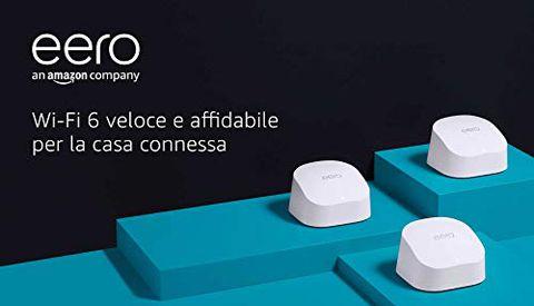 Nuovo sistema Wi-Fi 6 mesh dual-band Amazon eero 6