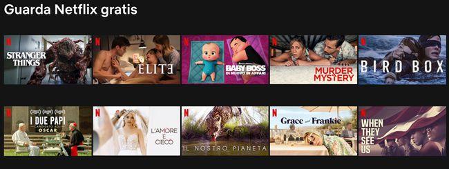Netflix gratis: i contenuti da vedere senza abbonamento