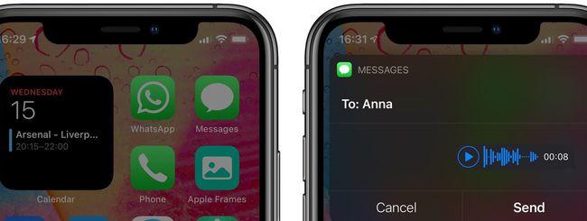 iOS 14: inviare audio messaggi con Siri