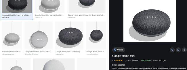 Google Immagini, nuova interfaccia su desktop