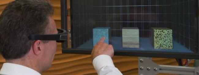 Microsoft crea un display 3D con feedback aptico