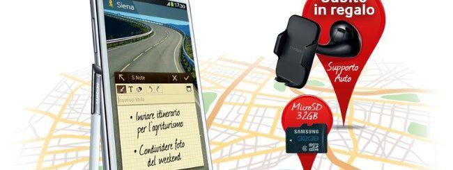 Galaxy Note 2: MicroSD e supporto auto in regalo